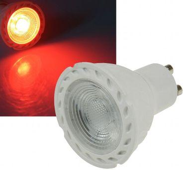 Led GU10 Lampe Birne rot 230 Volt 5Watt Spot 38° Dekolampe  – Bild 1