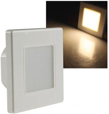 Led Treppenstufenbeleuchtung eckig cremeweiss wweiß 2,5Watt Einbau 230 V Wandlampe – Bild 1