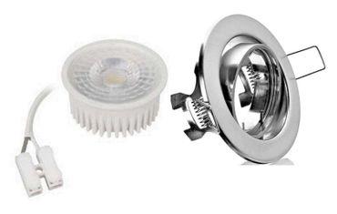10xFlacher Led Flat Einbaustrahler nm+Warmweiss 50° Spot 5W 35mm Einbautiefe 230V