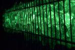 Led Gabionen Licht Beleuchtung LED 2x1,0m länge 360° Farbe grün Garten 230 Volt