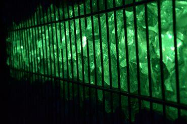 Led Gabionen Licht Beleuchtung LED 3x0,90m länge 360° Farbe grün Garten 230 Volt