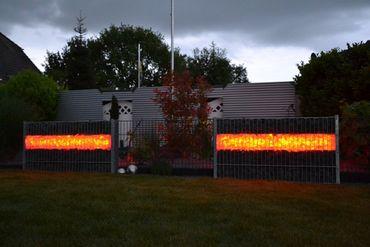 Led Gabionen Leuchte Licht Steinzaun 3x0,80m RGB mit Fernbedienung 230 Volt