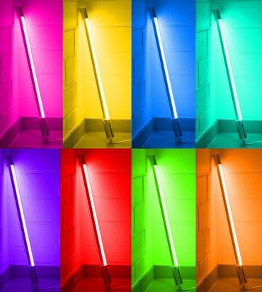 Led Leuchtstab mit Blendschutz KS Kabel schwarz 230V Party 60cm blau IP44 – Bild 6