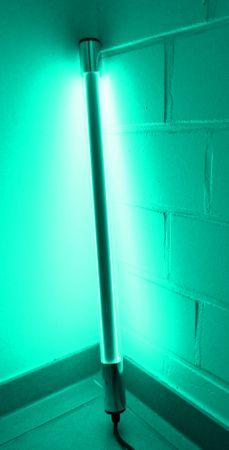 Led Leuchtstab mit Blendschutz KS Kabel schwarz 230V Party 60cm türkis IP44 – Bild 1