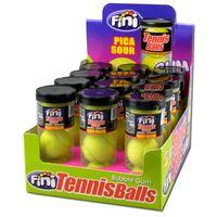 Fini Tennis Bälle, Grand Slam Bubble Gum Box, 12 Stück