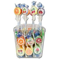 Bunte Rocks Lollies, Frucht-Lutscher, Lollys, 100 Stk je 10g