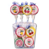 Bunte Rocks Lollies, Frucht-Lutscher, Lolly, 50 Stück je 26g