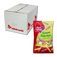 Red Band Snackpack Gummi Stäbchen, Fruchtgummi, 24 Beutel je 100g