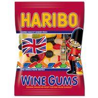 Haribo Wine Gums, Fruchtgummi, englisches Weingummi, 200g Beutel
