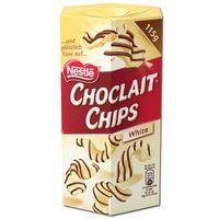 Nestle Choclait Chips White,Weiße-Schokolade, 115g Packung