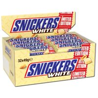 Snickers White Limited Edition, Schokolade, 32 Riegel