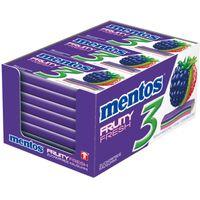Mentos Gum 3 Fruity Fresh, Brombeere Kiwi 12 Packungen