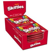 Skittles Fruits 38g, Bonbons, Dragees, 14 Beutel