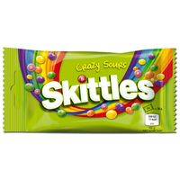 Skittles Crazy Sours 38g, Bonbons, Dragee, 14 Beutel