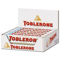 Toblerone Weiss, Riegel, Schokolade, 20 Stück je 100g