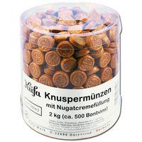 Küfa Knuspermünzen 2 Kg, Bonbons mit Nougatcremefüllung