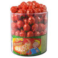 Cool Erdbeer Lolli, Lutscher 100 Stück