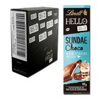 Lindt Hello Sundae Choco, Schokolade, 12 Tafeln je 100g