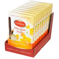 Carstens Lübecker Marzipan Sticks Orange 9 Packungen
