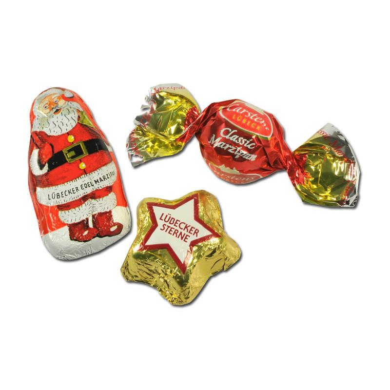 Carstens Lübecker Marzipan Weihnachts Mix 150g 7 Beutel Weihnachten ...