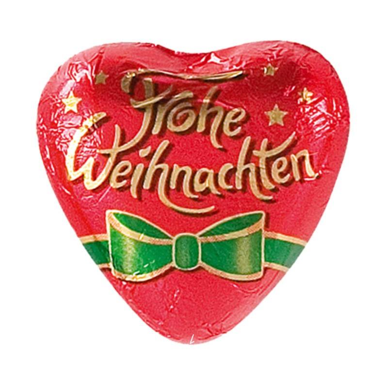 Frohe Weihnachten Herz.Storz Herz Frohe Weihnachten Schokolade 100 Stück