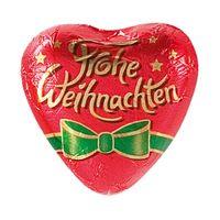 Storz Herz Frohe Weihnachten, Schokolade, 100 Stück