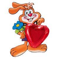 Storz Hase mit Herz, Osterhase, Schokolade, 75 Stück