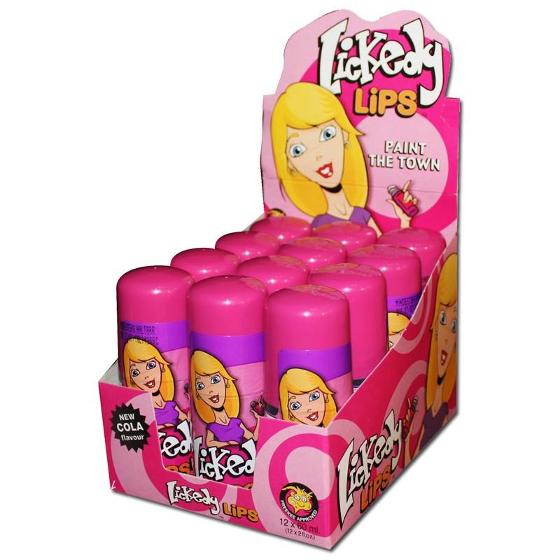 Lickedy Lips, Zungen-Roller, färbt die Zunge, 12 Stück Süsse ...