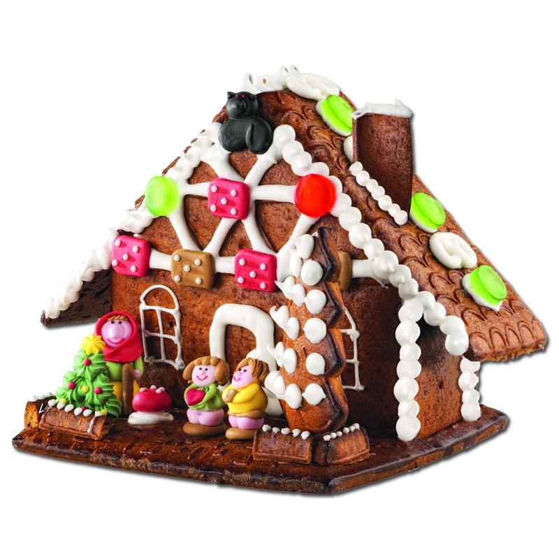 weiss lebkuchen hexenhaus mit haribo dekorteilen 900g weihnachten lebkuchen. Black Bedroom Furniture Sets. Home Design Ideas