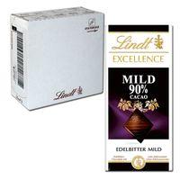 Lindt Excellence Mild 90% Cacao 100g Schokolade, 20 Tafeln