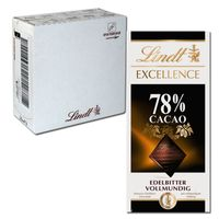 Lindt Excellence 78 % Edelbitter, 20 Tafeln je 100g