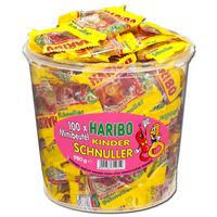 Haribo Kinder-Schnuller Minibeutel Fruchtgummi 100 Btl