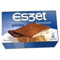 Eszet Schnitten Vollmilch Schokolade 75g 5 Packungen