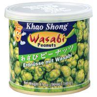 Khao Shong Erdnüsse mit Wasabi Knabbergebäck 140g Dose
