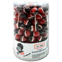 Küfa Schoko-Mint Kugel Lutscher, Lolli, Lolly 100 Stück