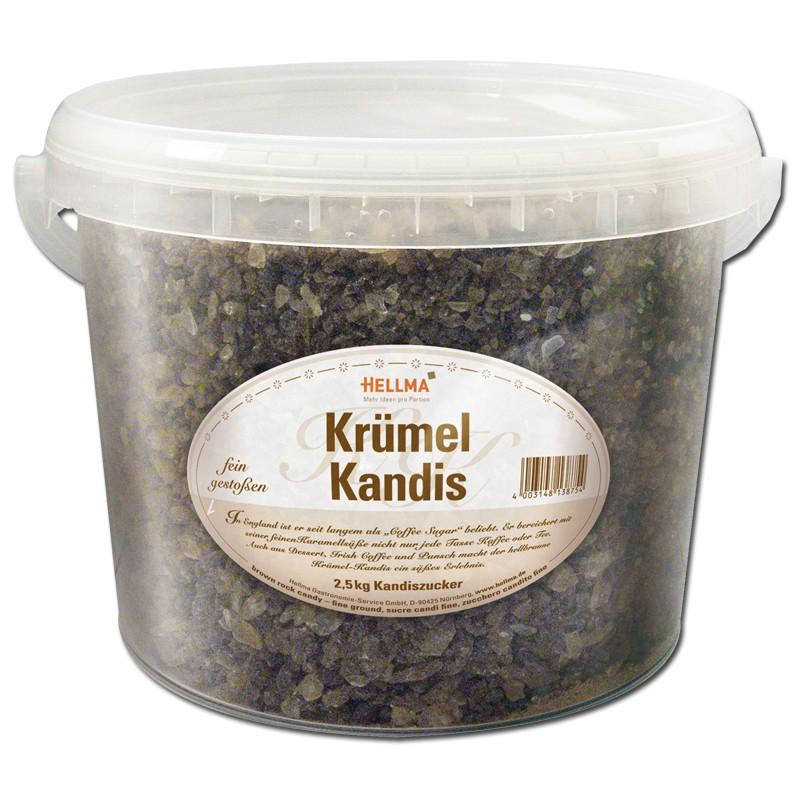 Hellma Krümel-Kandis lose, Zucker, 2,5 kg Kaffee zu Kaffee und Tee ...