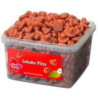 Red Band Schoko Pilze, Schaumzucker, Schokolade 150 Stück
