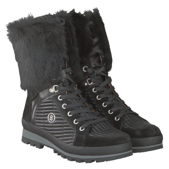 BOGNER Damen Winter Stiefel St. Anton Fellbesatz L3 I-01, Size: 42 EU  / Black