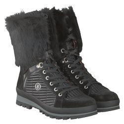 BOGNER Damen Winter Stiefel St. Anton Fellbesatz L3 I-01, Size: 42 EU  / Black 1