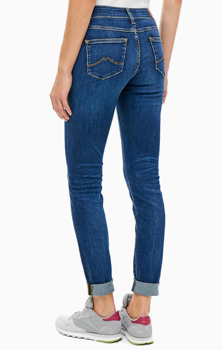 Details about Mustang Jasmin Jeggins Damen Jeans, W25 to W34 stone washed