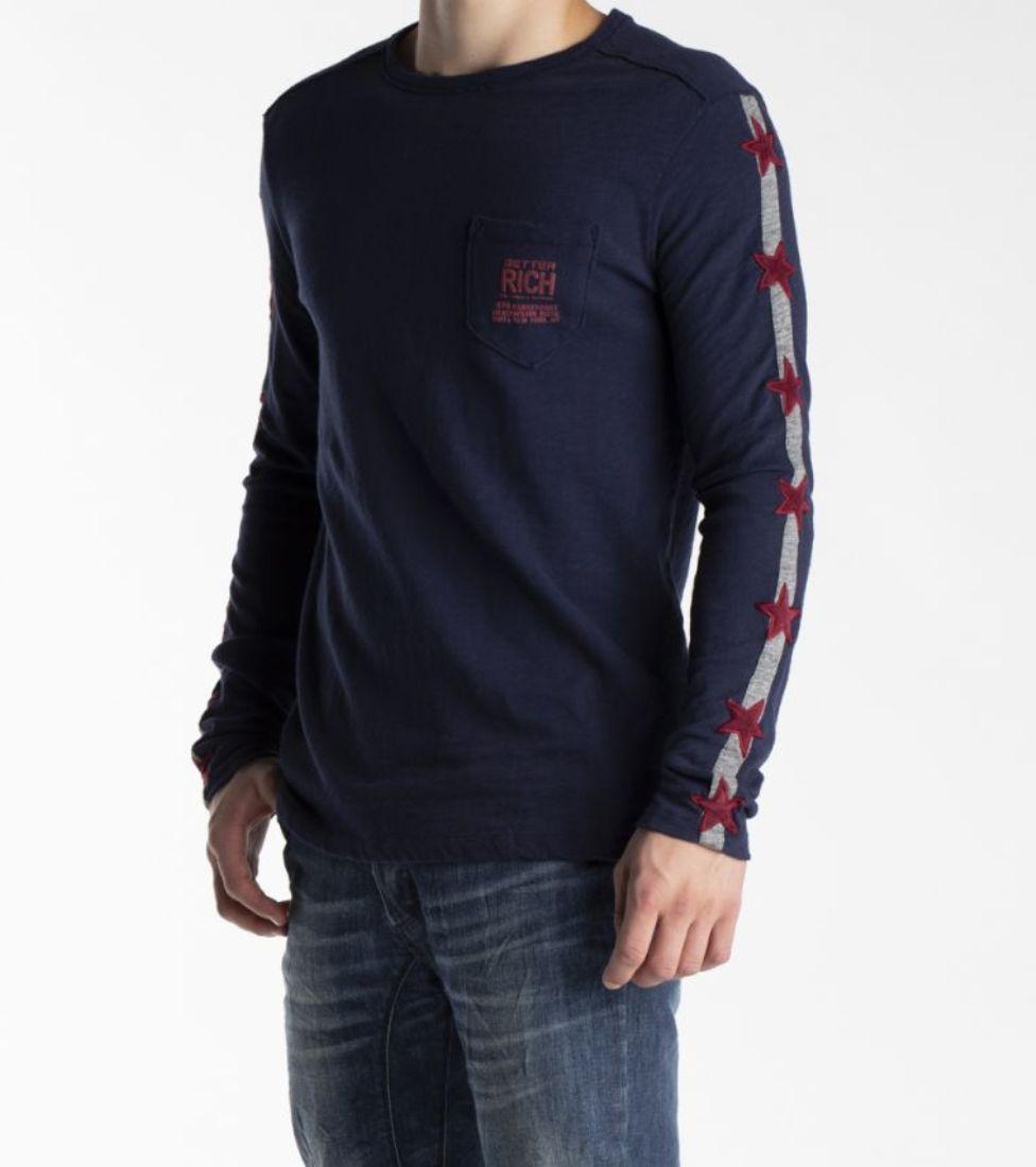 7ad8f0d1 Better Rich Men's Long Sleeve Star Shirt SIZE M to XXL / Wow | eBay