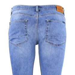FIVE FELLAS Danny Slim Fit Herren Jeans, Used-Look, Candiani Denim, blau 5