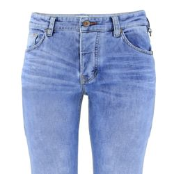 FIVE FELLAS Danny Slim Fit Herren Jeans, Used-Look, Candiani Denim, blau 4