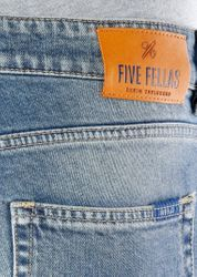 FIVE FELLAS Danny Slim Fit Herren Jeans, Used-Look, Candiani Denim, blau 6