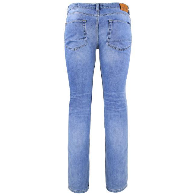 FIVE FELLAS Luuk Straight Fit Herren Jeans, Used-Look, Candiani Denim, blau