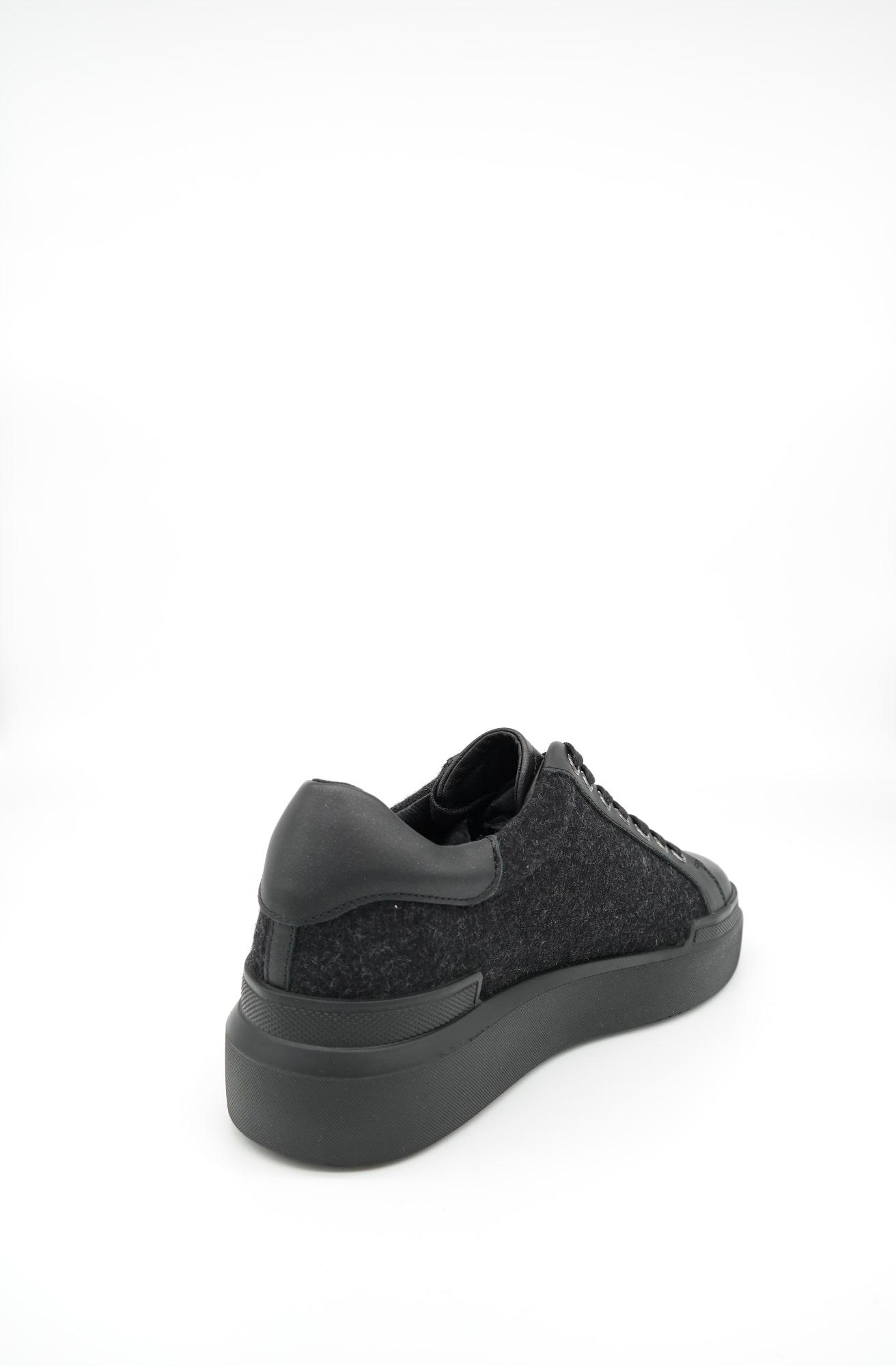 Schwarz BOGNER Damen Schuhe Low Sneaker Hollywood 12 Leder-Filz-Mix