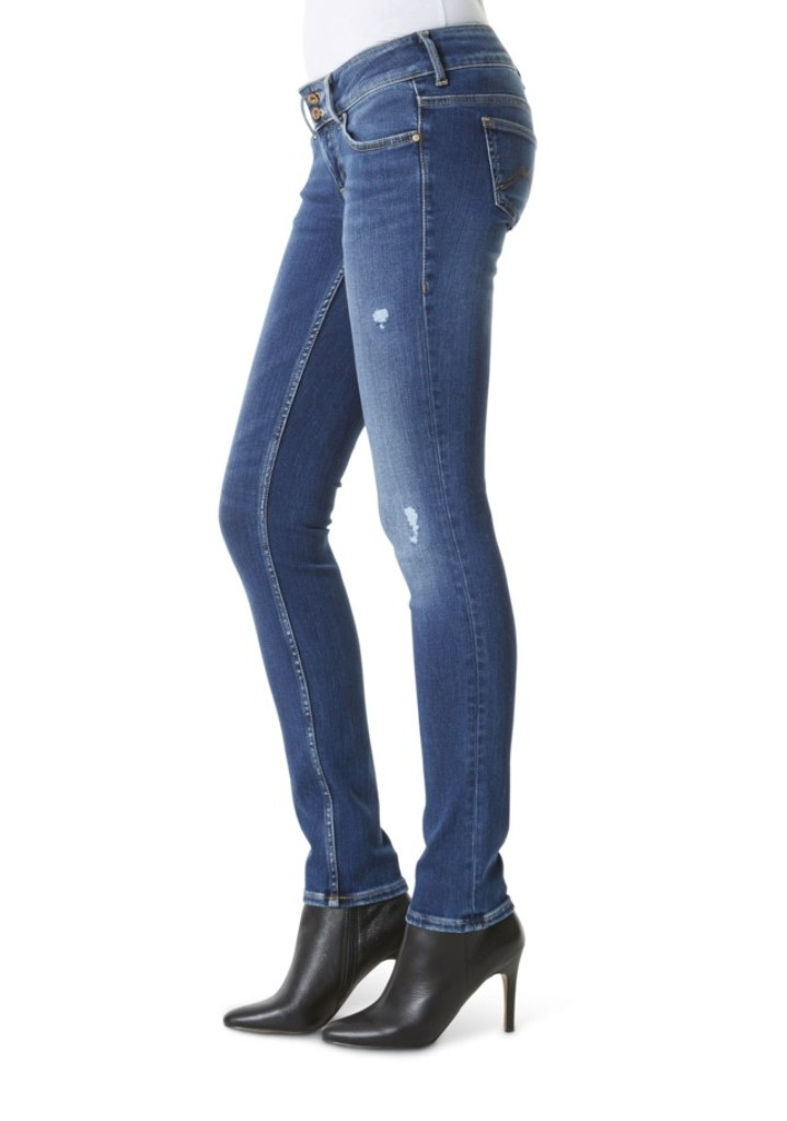 Mustang Gina Skinny 2B Damen Jeans, W25 to W32 STONE WASHED