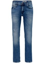 Mustang Oregon Straight Herren Jeans, W28 -to- W40  Heavy Used Wash  1