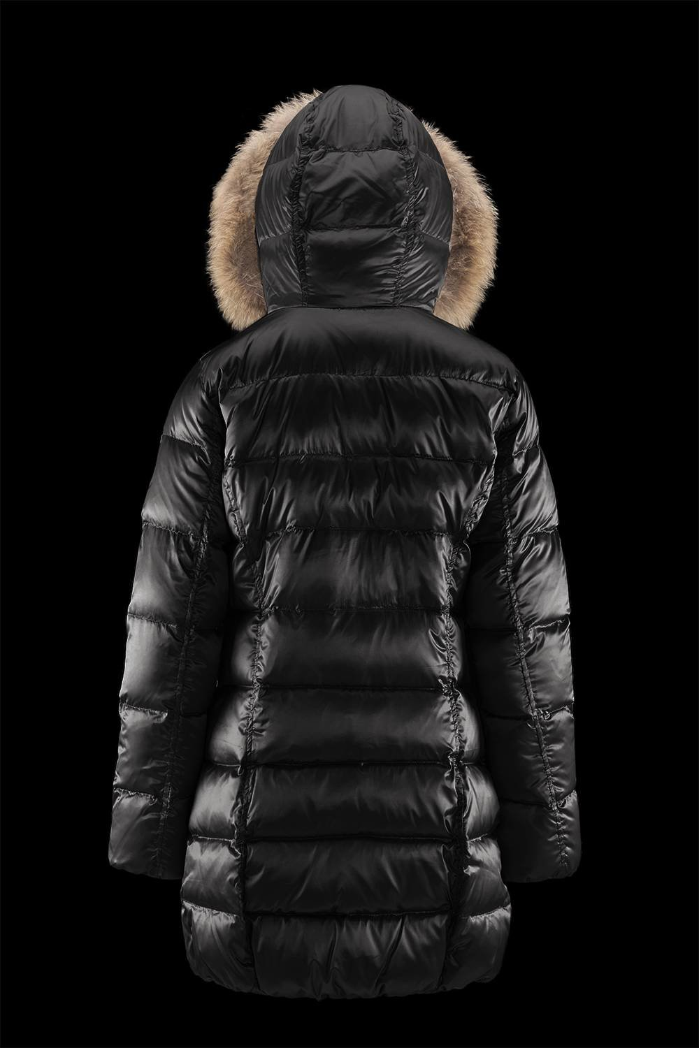 Details about Bomboogie Women's Coat with Real fur (Raccoon) New Shiny