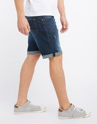 Mustang Herren Chicago Short, Size: W32 / dark scratched used 2